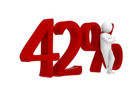 3d 인간의 붉은 색 42 % 스톡 콘텐츠
