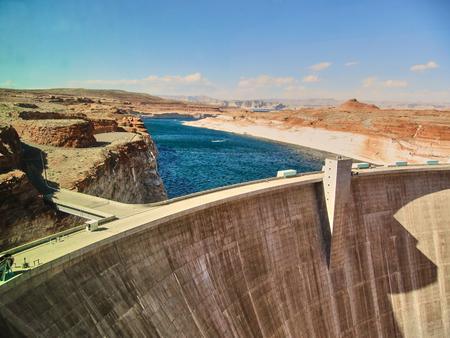 hydroelectric station: The Glen Canyon Dam - Page Arizona Stock Photo