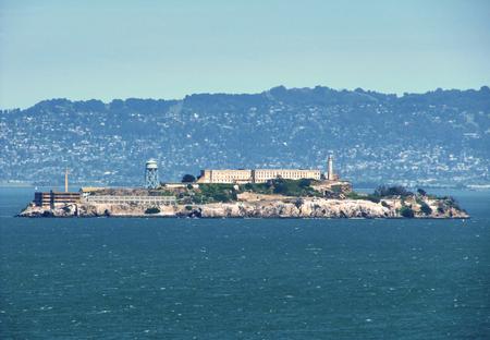 The famous prison by Alcatraz Island  - San Francisco Stok Fotoğraf