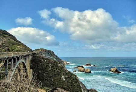 The Bixby Creek Bridge on the Big Sur coast of California Stock Photo