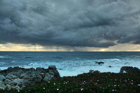 In the west coast the storm is coming with dark clouds