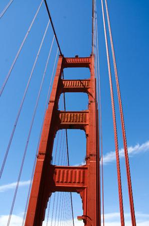 The Golden Gate Bridge in San Francisco 版權商用圖片