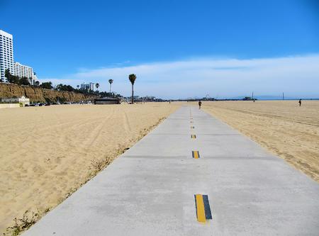 A cycle lane in santa monica beach