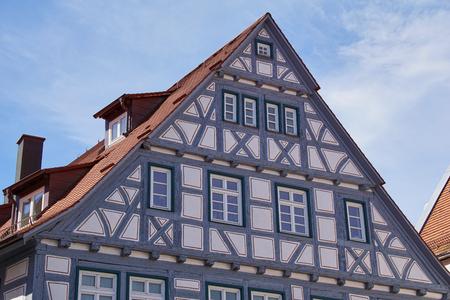 traditional german timber frame house in Waiblingen (Baden-Wuerttemberg)