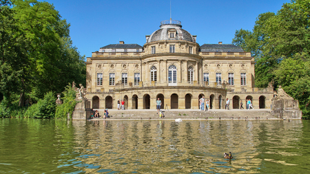 Ludwigsburg, Germany - June 10th, 2017: Country house hotel Castle Monrepos during the annual fish festival. Editöryel