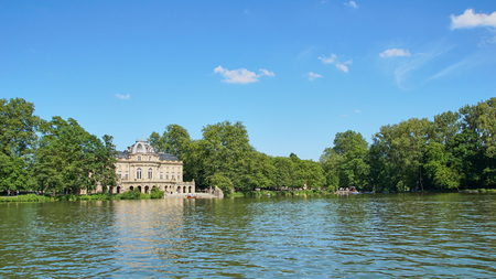 The Monrepos Castle and its lake