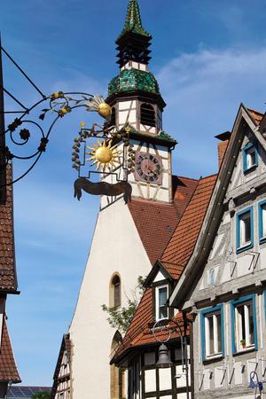 Old german church in Germany - Waiblingen