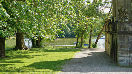 The Monrepos and its lake in Ludwigsburg - Germany