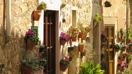 An typical street of Valldemossa - Mallorca Island, Spain