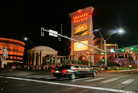 Nightlife in Las Vegas - The Strip Stok Fotoğraf - 110654043