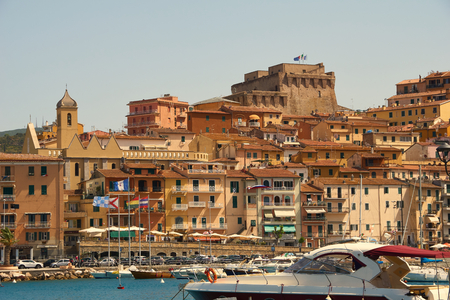 The port of Porto Santo Stefano with its Fortress