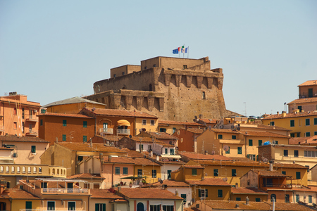 The Fortress of Porto Santo Stefano, Italy Stok Fotoğraf