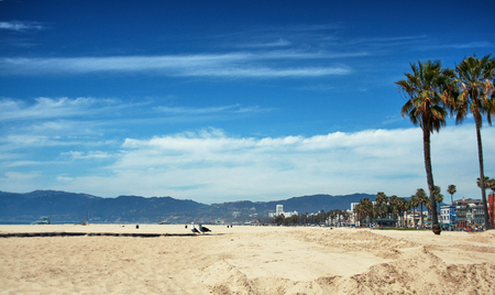American beach of Santa Monica - California Stok Fotoğraf