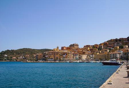 The port of Porto Santo Stefano, Italy