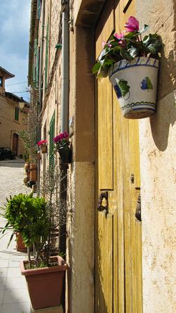 An typical street of Valldemossa - Mallorca Island, Spain Stok Fotoğraf - 110690180