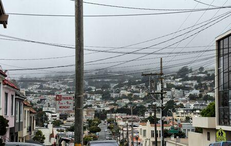 Suburban Street of San Francisco Stok Fotoğraf - 131751492