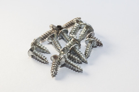 industry: Screws for industry and manufacturing Stock Photo
