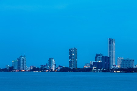 george: Cityscaper, metropolitan, skyscraper, skyline building by the shore of Gurney Drive, George Town, Penang