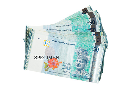 50 dollar bill: Malaysia Currency Banknotes, RM50, New fifty Ringgit Stock Photo