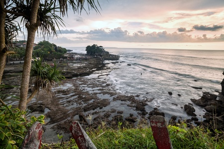 kuta: Holiday in Bali, Indonesia - Tanah Lot Temple Stock Photo