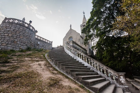 Holiday in Macao - Chapel of Our Lady of Penha or better known as Penha Church, Macau Stock Photo