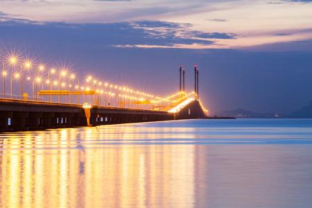 Penang Bridge view, George Town Penang, Maleisië Stockfoto