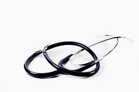 Stethoscope for doctor or medicine student in white background