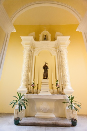 parish: Senado, Macau - February 3, 2015: St. Dominics Church is a late 16th century Baroque-style church that serves within the Cathedral Parish of the Roman Catholic Diocese of Macau