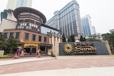 Taipa, Macau - February 4, 2015:  Sands Cotai Central is a casino resort on the Cotai Strip, including the worlds largest Holiday Inn, Conrad, and Sheraton Editorial