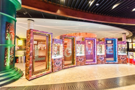 pbl: Taipa, Macau - February 4, 2015:  City of Dreams is a resort and casino along the Cotai Strip in the Cotai reclamation area in Macau, China. It is built, owned and managed by Melco Crown Entertainment, formerly known as Melco PBL Entertainment Editorial