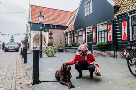 volendam: Amsterdam Holland, November 2014 : Holiday in Holland - Cold raining wet winter in Volendam