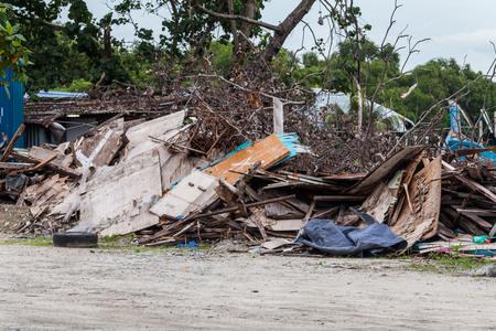 earthquake crack: Junk site indicating disaster like tsunami, earthquake,tornado or typhoon