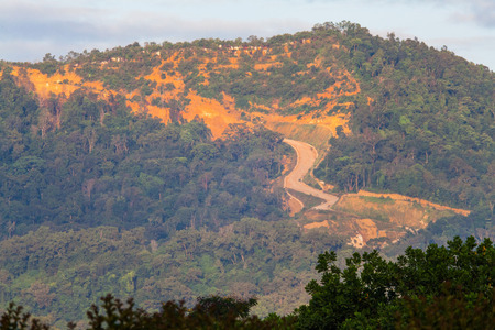 land slide: Erosion of hill indicating over development