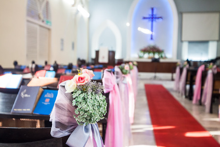 wesley: Georgetown, Penang - November 19, 2016 : Penang Wesley Methodist Church is one of the oldest churches in the country.  It has been around for more than a century which possibly dates back to 1891.