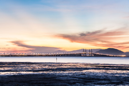 Penang Bridge view from the shore
