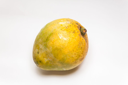 Mango view in close up with blur isolated white background