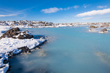 Beautiful Lagoon view during winter in Iceland