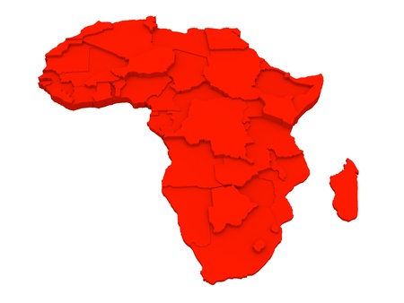 Map of Africa Stock Photo - 15311900