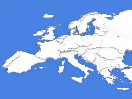 Map of Europe Banco de Imagens