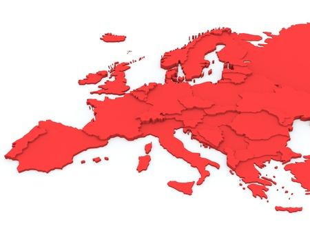 Mapa de Europa Foto de archivo - 15311935