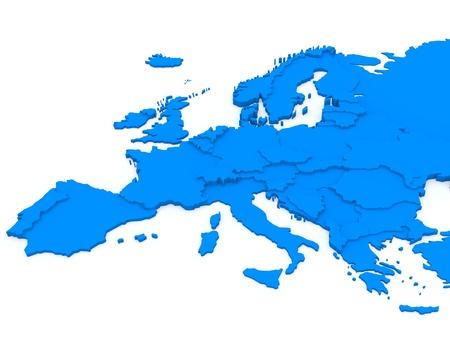 Mapa de Europa Foto de archivo - 15311929