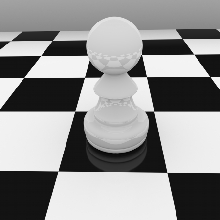 white chess pawn Stock Photo