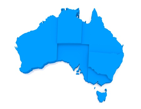 Bump map of Australia Stock Photo
