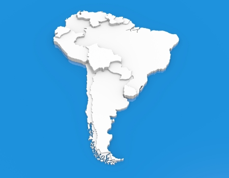 Bump map of South America