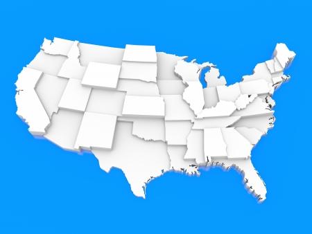 Bump mapa de EE.UU. Foto de archivo - 15711058