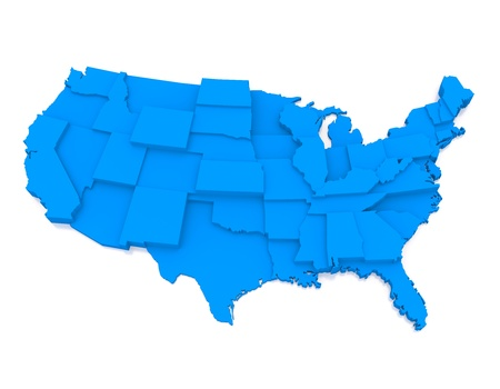 bump: Bump map of USA