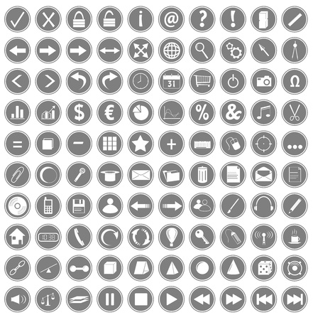100 web icons photo