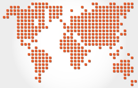 dotted world map Stock Vector - 18311894