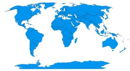 Mapa 3D del mundo Foto de archivo - 19018210