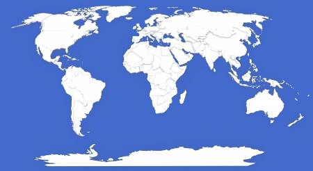3D map of world